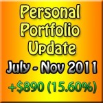 Personal Portfolio Update: November 2011