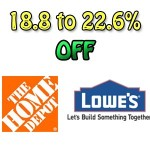 How to save 18.8% to 22.6% at Home Depot or Lowes
