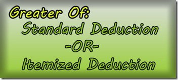 Standard or itemized